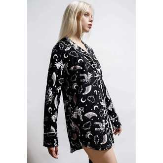 Ženska srajčna pižama KILLSTAR - Moonbow Sleep - Črna, KILLSTAR