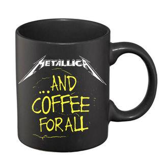 Keramična skodelica Metallica - And Coffee For All Matt - Črna - RTMTLMUBCOF