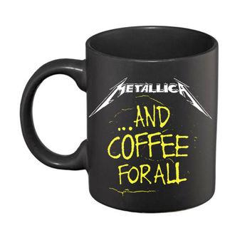 Keramična skodelica Metallica - And Coffee For All Matt - Črna, NNM, Metallica