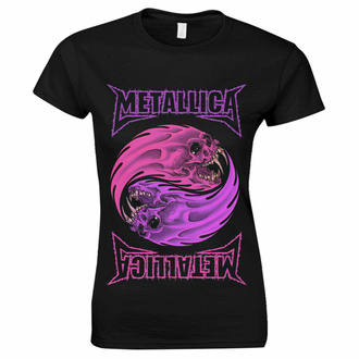 Ženska majica Metallica - Yin Yang Purple - Črna, NNM, Metallica