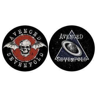 Blazinica za gramofon (set 2 kos) AVENGED SEVENFOLD - SKULL / SPACE - RAZAMATAZ, RAZAMATAZ, Avenged Sevenfold