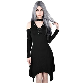 Ženska obleka KILLSTAR - Onyx Fall-Deep - BLACK, KILLSTAR