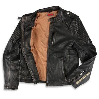 Usnjena jakna AC-DC - Črna / bež - NNM