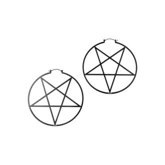 uhan KILLSTAR - Pentagram Hoop - Črna, KILLSTAR