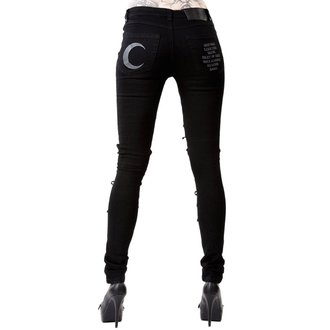 Ženske Hlače KILLSTAR - PHASED OUT JEANS - BLACK, KILLSTAR