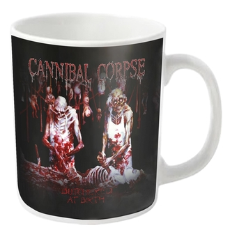 Šalica CANNIBAL CORPSE - BUTCHERED - Bela - PLASTIC HEAD, PLASTIC HEAD, Cannibal Corpse