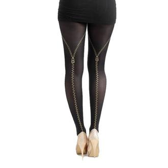 Hlačne nogavice PAMELA MANN - Flocked Zip - (Zlata), PAMELA MANN