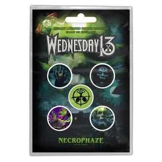 Broške WEDNESDAY 13 - NECROPHAZE - RAZAMATAZ, RAZAMATAZ, Wednesday 13