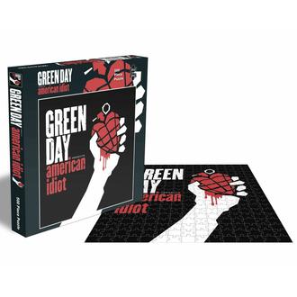 Puzzle sestavljanka GREEN DAY - AMERICAN IDIOT - 500 JIGSAW PIECES - PLASTIC HEAD, PLASTIC HEAD, Green Day