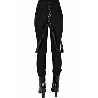 Ženske hlače KILLSTAR - Shadow Stripe - Črna, KILLSTAR