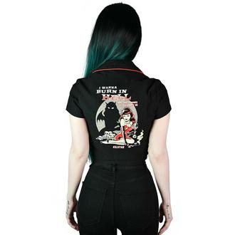 Ženska majica KILLSTAR - She Devil - Crop Bowling - Črna, KILLSTAR