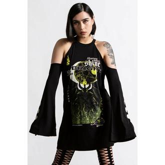 Ženska obleka (tunika) KILLSTAR - Shine Bright Cold-Shoulder - Črna, KILLSTAR