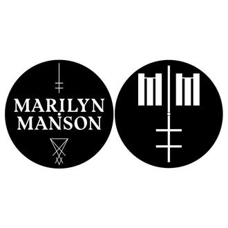 Podloga za gramofonsko ploščo (2 kosa) Marilyn Manson - Logo / Cross - RAZAMATAZ, RAZAMATAZ, Marilyn Manson
