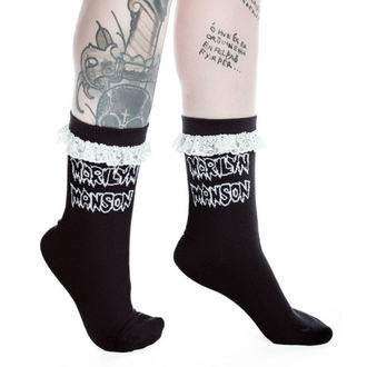 nogavice KILLSTAR - MARILYN MANSON - Kača Oči - Črno, KILLSTAR, Marilyn Manson