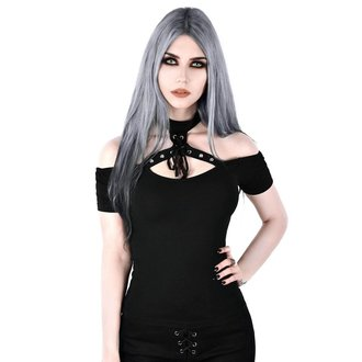 Ženska majica KILLSTAR - Sundown Halter - BLACK, KILLSTAR