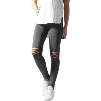 Ženske hlače (pajkice) URBAN CLASSICS - Cutted Knee Leggings - acid črna, URBAN CLASSICS