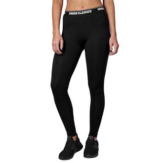 Ženske hlače (pajkice) URBAN CLASSICS - Logo - črna, URBAN CLASSICS