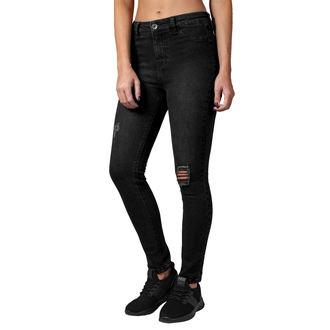 Ženske hlače URBAN CLASSICS - High Waist - črna oprana, URBAN CLASSICS