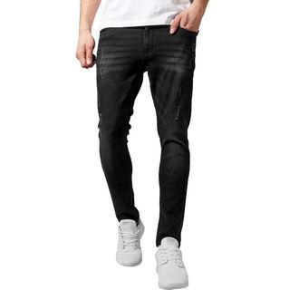 Moške hlače URBAN CLASSICS - Skinny Ripped Stretch Denim, URBAN CLASSICS