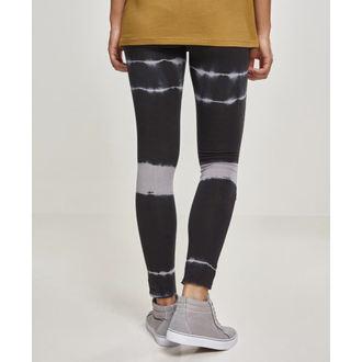 Ženske legice URBAN CLASSICS - Tie Dye Biker - blk / lt.grey, URBAN CLASSICS