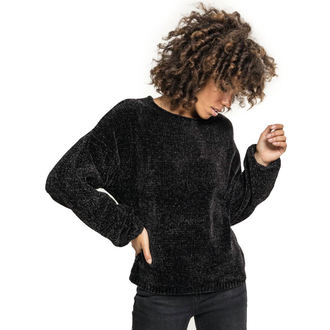 Ženski pulover URBAN CLASSICS - Chenille - črna, URBAN CLASSICS