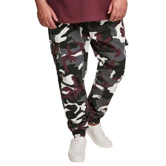 Moške hlače URBAN CLASSICS - Camo Cargo Jogging - bordo camo, URBAN CLASSICS