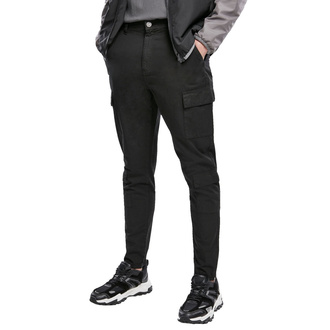Moške hlače URBAN CLASSICS - Tapered Double Cargo - črna, URBAN CLASSICS
