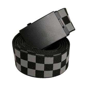 Pas URBAN CLASSICS - Adjustable Checker - črna / siva, URBAN CLASSICS