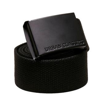 Pas URBAN CLASSICS - Colored Buckle Canvas 2-Pack - asfalt / črna, URBAN CLASSICS