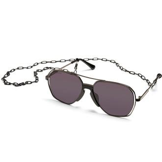 Sončna očala URBAN CLASSICS - Karphatos With Chain - gunmetal / črna, URBAN CLASSICS