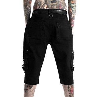 Moški kratke hlače KILLSTAR - TWISTED CARGO - BLACK, KILLSTAR