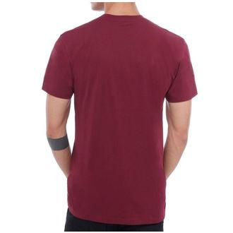 Moška majica VANS - MN VANS CLASSIC - Burgundija / Bela, VANS