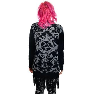 Ženski pulover (kardigan) TOO FAST - BAROQUE VICTORIAN GOTHIC PENTAGRAM LONG0FRINGE, TOO FAST