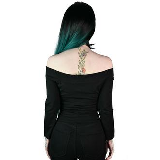 Ženska majica z dolgimi rokavi (top) KILLSTAR - Witch Queen Bardot - Črna, KILLSTAR