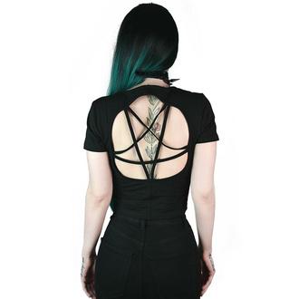 Ženska majica (top) KILLSTAR - Witch Queen Pentagram Crop - Črna, KILLSTAR