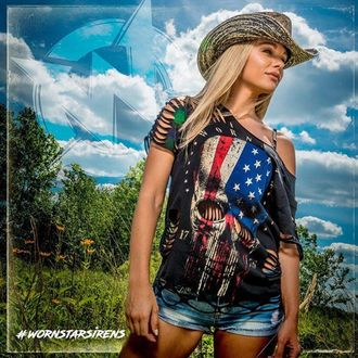 Hat WORNSTAR - Hellrider Black & Natural Rocker Cowboy, WORNSTAR