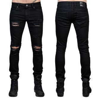 Moške hlače (kavbojke) WORNSTAR - Rampager Shredded - Črna, WORNSTAR