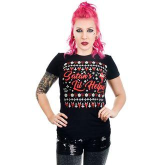 Ženska gotska in punk majica - SATAN'S LIL HELPER EVIL CHRISTMAS BABYDOLL - TOO FAST, TOO FAST