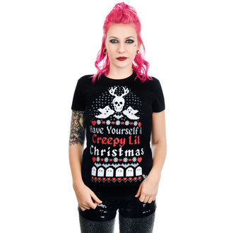 Ženska gotska in punk majica TOO FAST - HAVE YOURSELF A CREEPY LIL CHRISTMAS BABYDOLL, TOO FAST