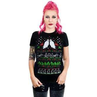 Ženska gotska in punk majica - GRAVE ROBBER ZOMBIE XMAS VS HALLOWEEN BABYDOLL CHR - TOO FAST, TOO FAST