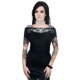 Ženska gothic in punk majica - FOXY OFF THE SHOULDER - TOO FAST, TOO FAST