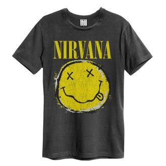 Moška metal majica Nirvana - Worn Out Smiley - AMPLIFIED, AMPLIFIED, Nirvana