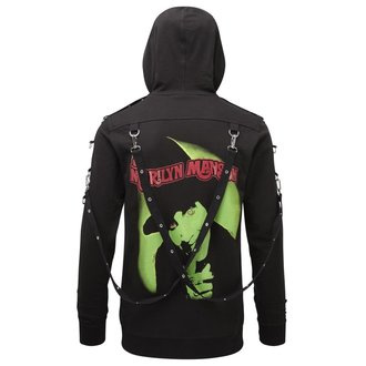 Jopa s kapuco Unisex KILLSTAR - Marilyn Manson - Smrdi Všeč mi je Manson - Črno, KILLSTAR, Marilyn Manson
