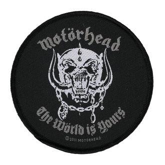 Našitek MOTORHEAD - THE WORLD IS YOURS - RAZAMATAZ, RAZAMATAZ, Motörhead