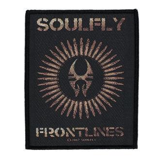 Našitek SOULFLY - FRONTLINES - RAZAMATAZ, RAZAMATAZ, Soulfly