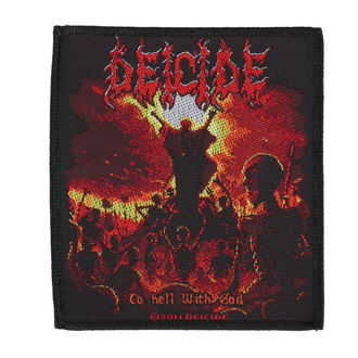 Našitek DEICIDE - TO HELL WITH GOD - RAZAMATAZ, RAZAMATAZ, Deicide