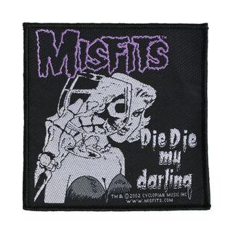 Našitek MISFITS - DIE DIE MY DARLING - RAZAMATAZ, RAZAMATAZ, Misfits