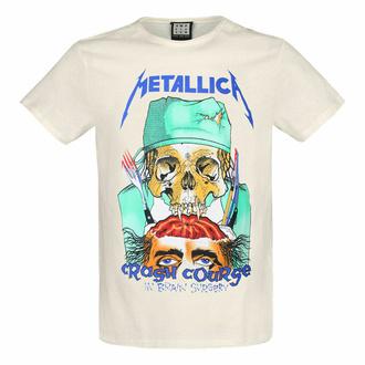 moška majica METALLICA - CRASH COURSE - VINTAGE BELA - AMPLIFIED, AMPLIFIED, Metallica
