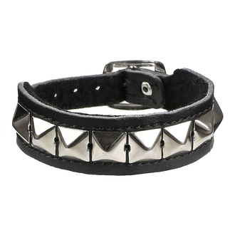 Zapestnica Piramide 1 - vegan, BLACK & METAL