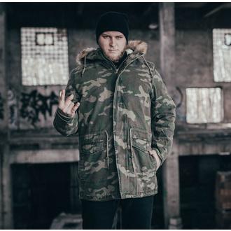 Moška jakna URBAN CLASSICS - Garment Parka - gozdna camo, URBAN CLASSICS